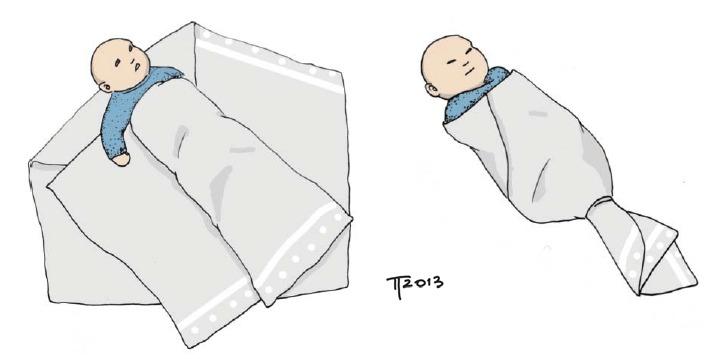 Fasciatura dei neonati per attenuare le coliche