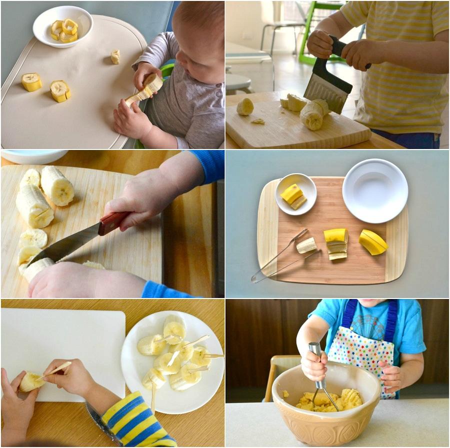 Tappe per imparare a tagliare una banana