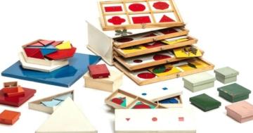 Cassettiera delle figure piane, metodo Montessori