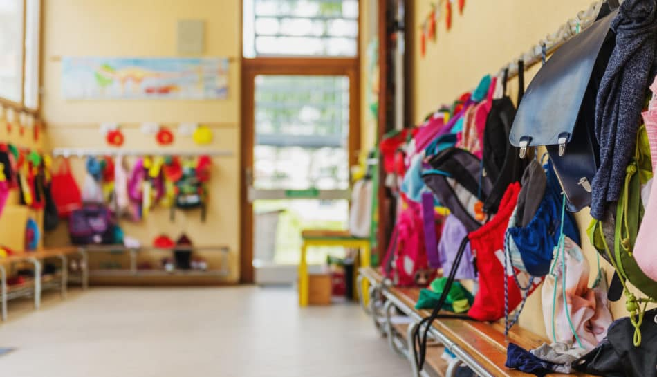 Corridoio di una scuola dell'infanzia