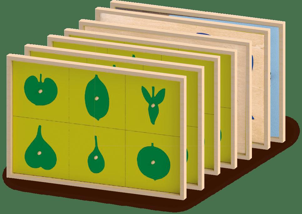 Cassettiera botanica Montessori