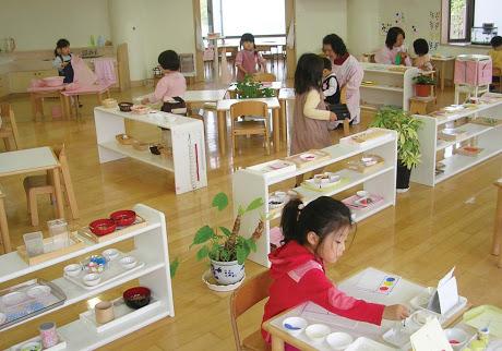 Mobili Montessori in una scuola