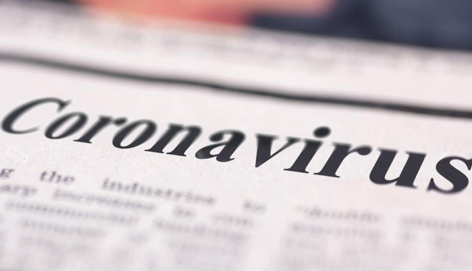 Coronavirus come titolo della news di un giornale
