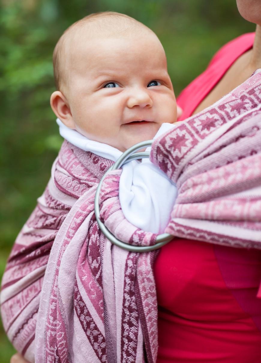 Fascia porta bebè ad anelli