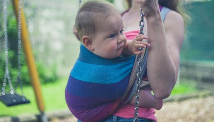 Fascia porta bebè corta